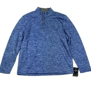 NWT Callaway Fleece Lined Pullover Sweater Sz L